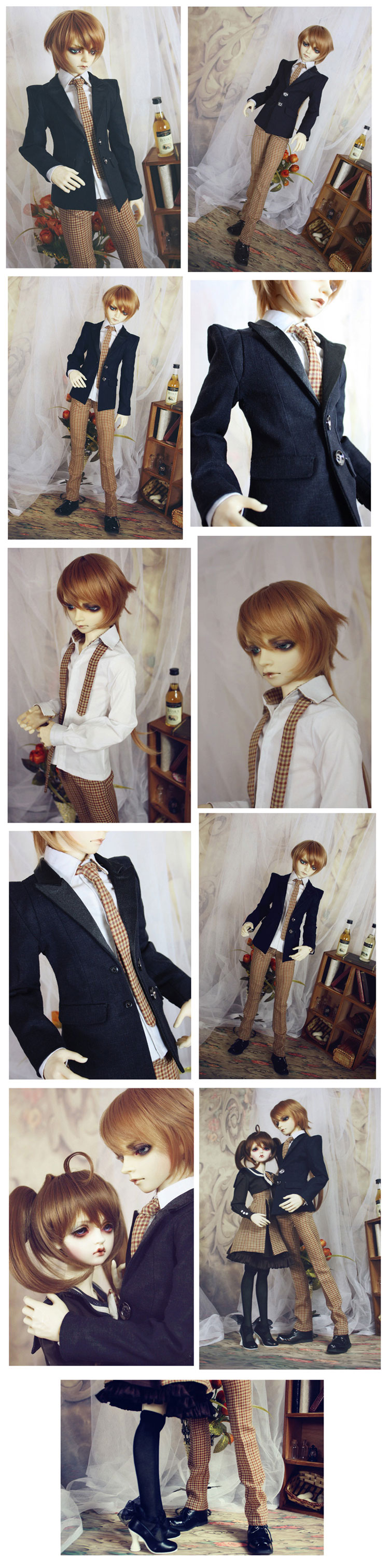 Bjd Clothes Students uniform for MSD/SD10/SD13/SD17/70cm Ball-jointed Doll
