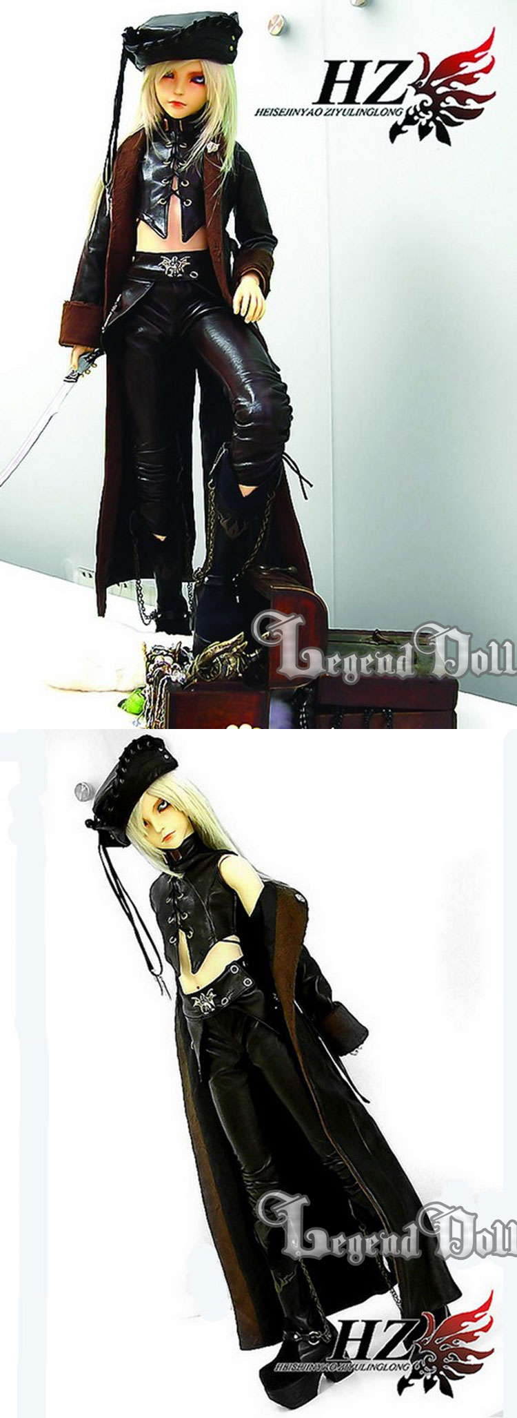 BJD Pirate Clothes for MSD/SD/SD13/SD17 Ball-jointed Doll