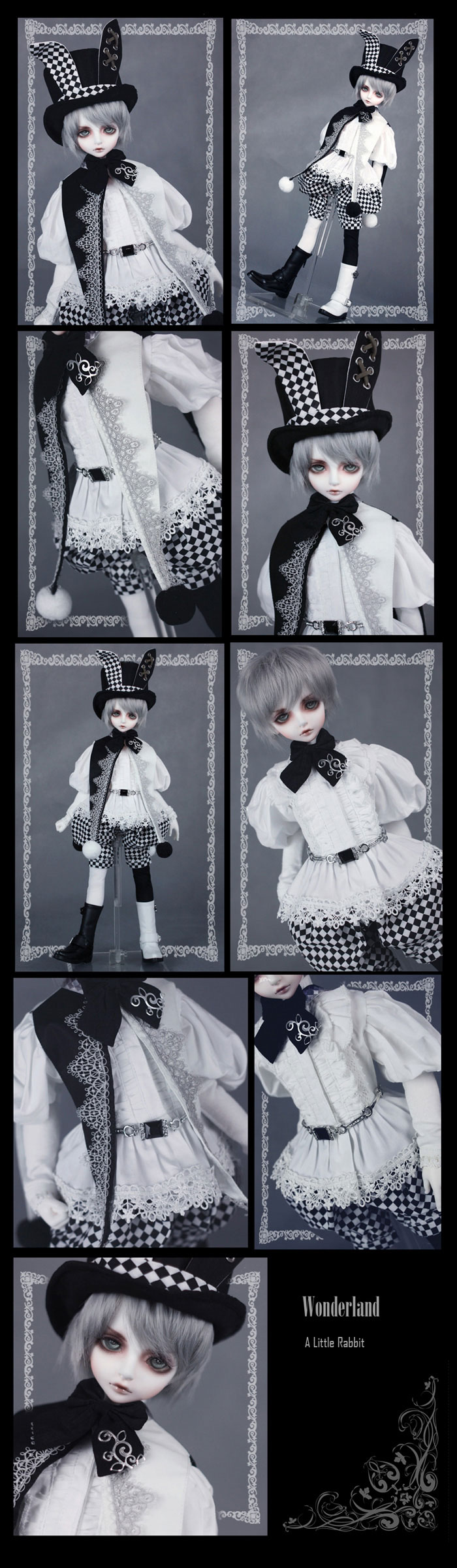 Bjd Clothes Costume Set A little Rabbit Limited Edition for SD10/SD13/SD17 Ball-jointed Doll