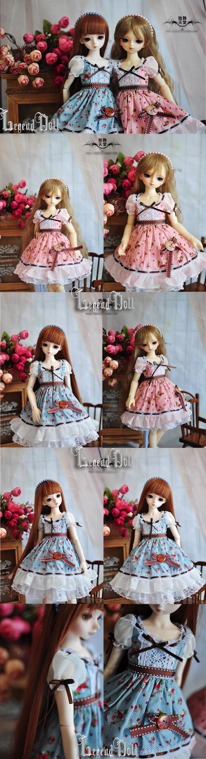 BJD Clothes Strawberry Summer for Yo-SD/MSD/SD Size Ball-jointed Doll