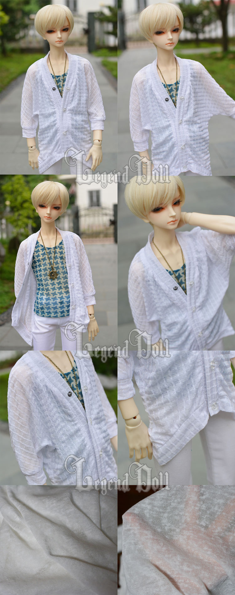 BJD Clothes White Elastic Coat A061 for MSD/SD/70cm Size Ball-jointed Doll