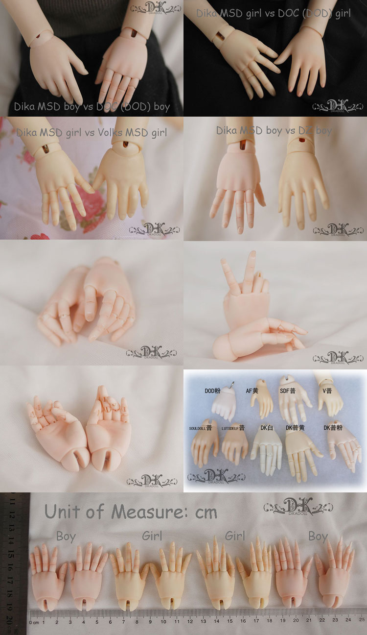Ball-jointed Hand for MSD BJD (Ball-jointed doll)