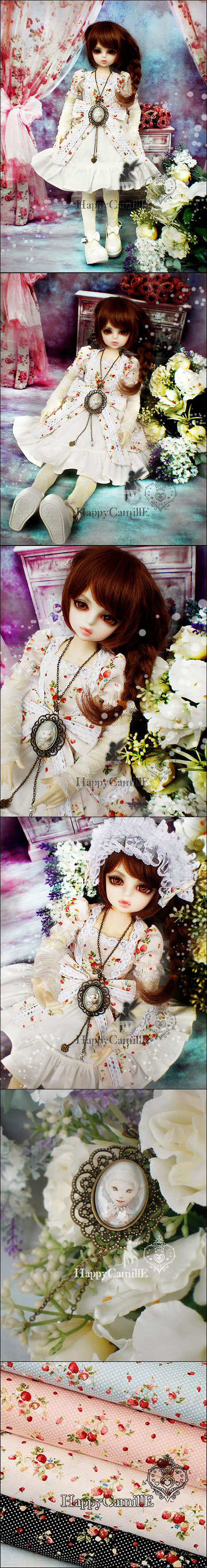 BJD Clothes White autumn dress set for MSD