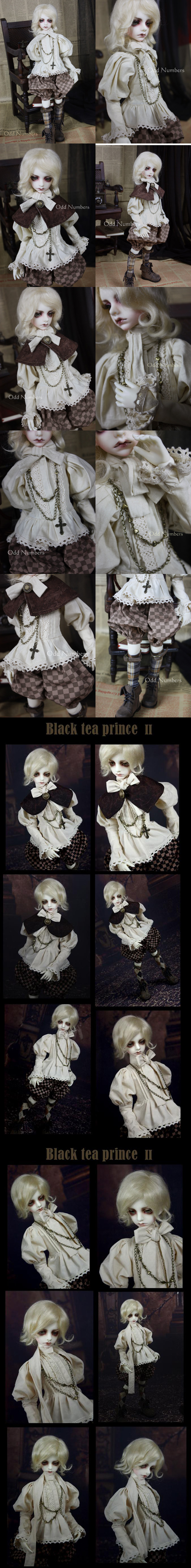 Bjd Clothes Black tea prince2 for MSD Ball-jointed Doll
