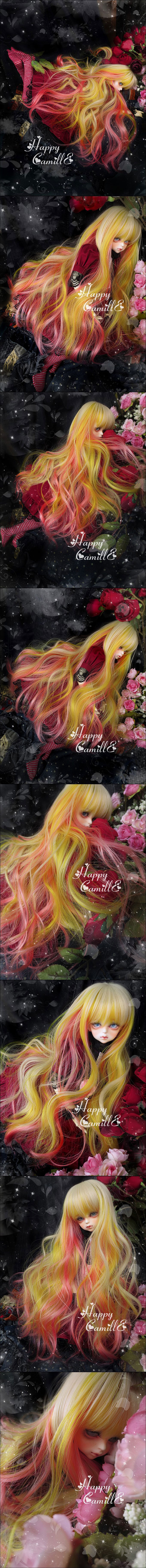 BJD Wig Illusion canary hair for MSD