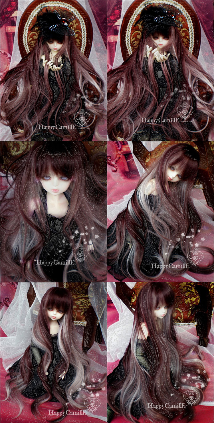 BJD Wig long curly hair for SD/MSD