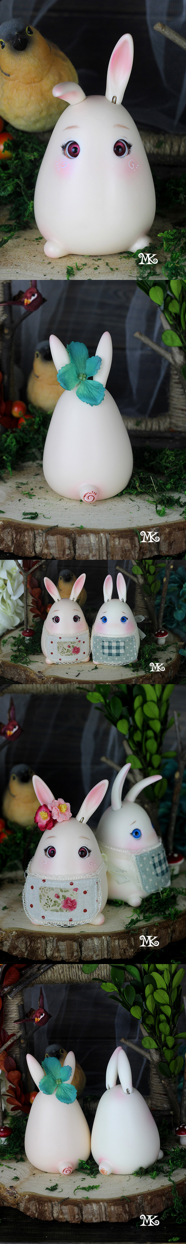 BJD's pet Pinky Rabbit Ball-jointed doll