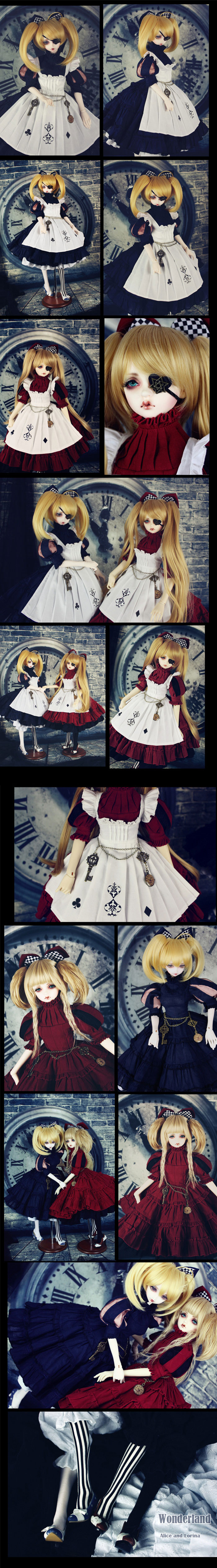 Bjd Clothes Alice and Lorina Costume Set Limited Edition for SD10/SD13/SD16 Ball-jointed Doll