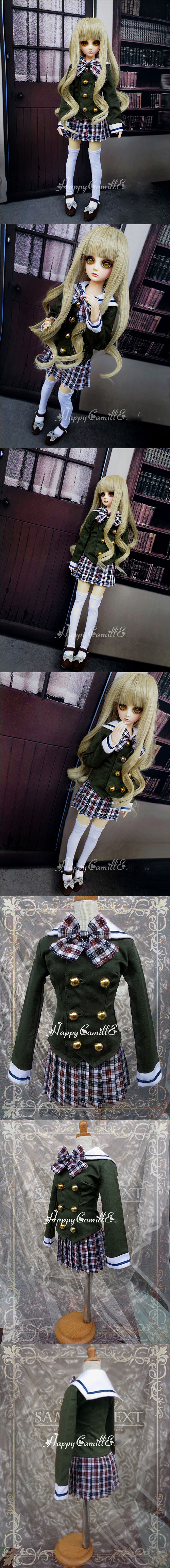 BJD Clothes Western-style Clothes Girl for SD/MSD Ball-jointed Doll