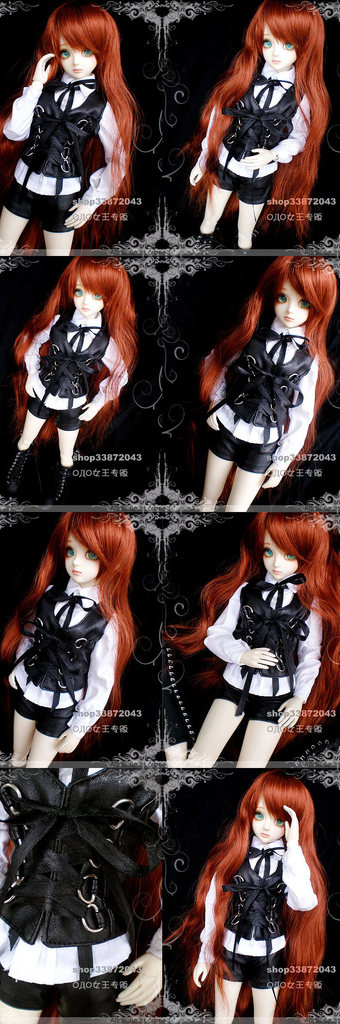 BJD Clothes Leather Costume Set for SD/MSD Ball-jointed Doll