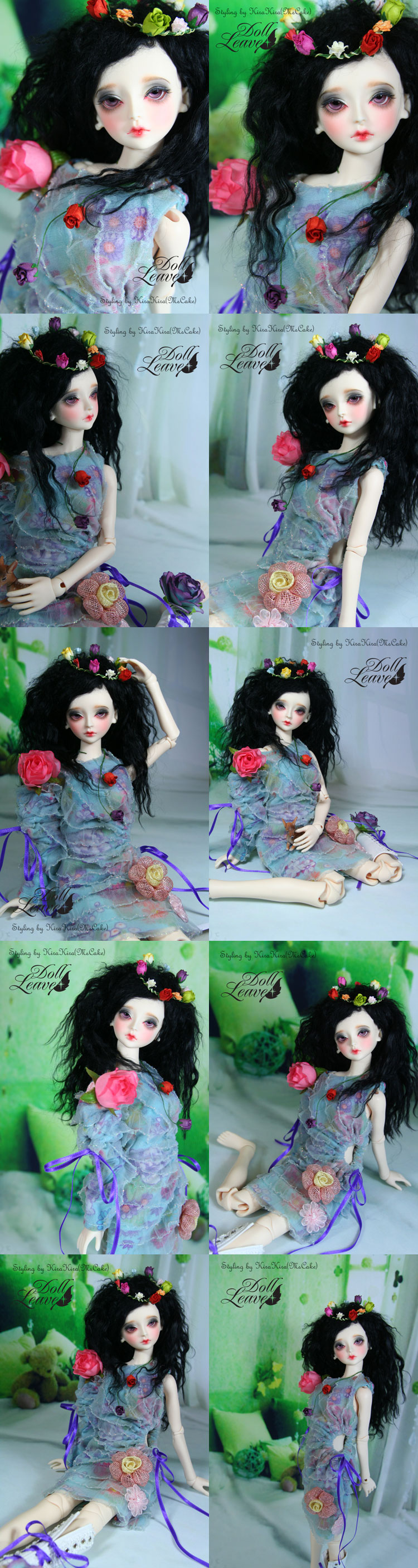 BJD F-(Flora) Girl 43.5cm Boll-jointed doll