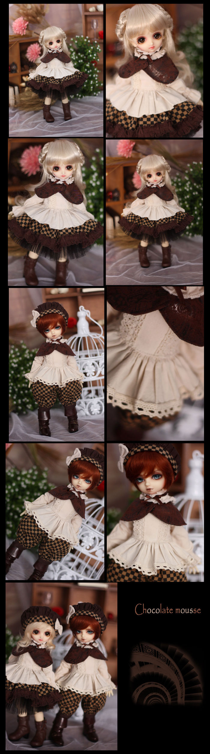 Bjd Clothes Chocolate Mousse for MSD/Yo-SD Ball-jointed Doll