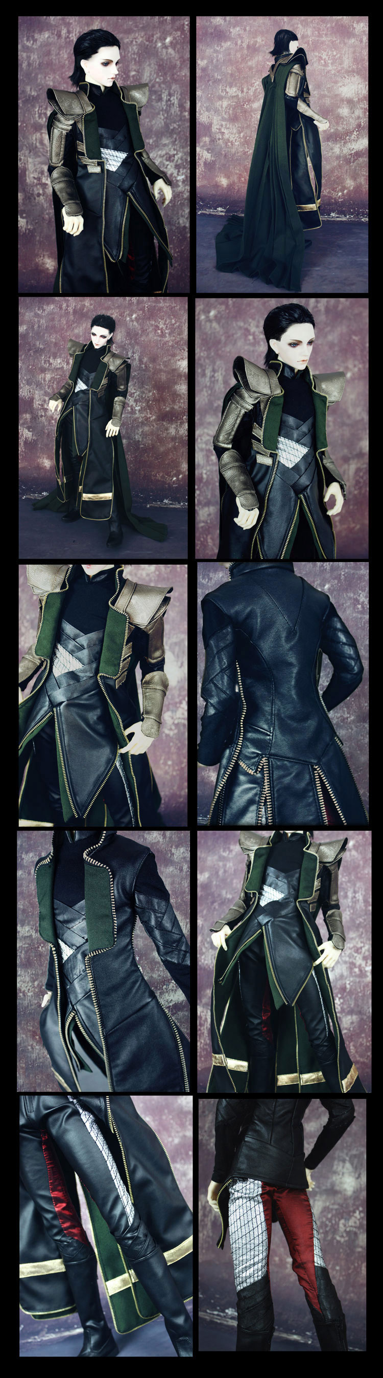 Bjd Clothes AVENGERS cos LOKI for SD13/SD17/70cm Ball-jointed Doll
