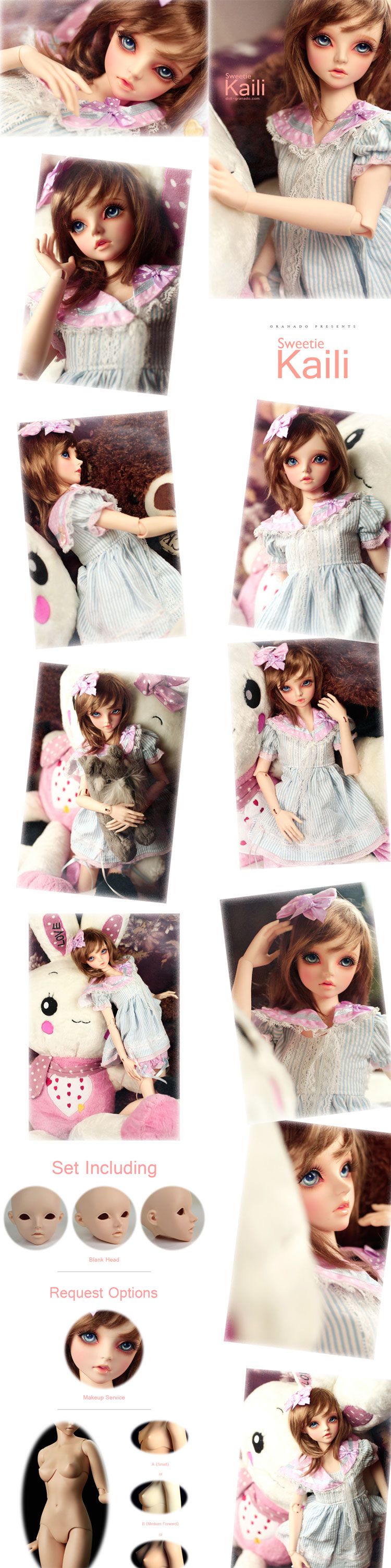 BJD Sweetie Kaili 58.3cm Girl Body Ball-jointed doll