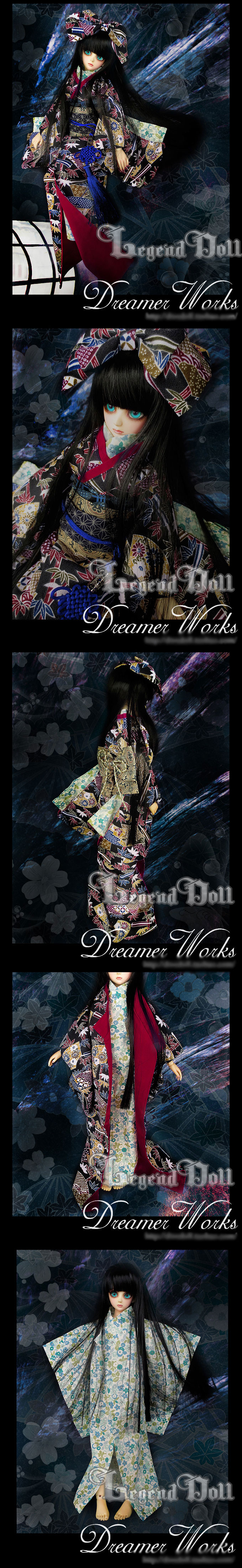 BJD Clothes Kimono for MSD Ball-jointed Doll