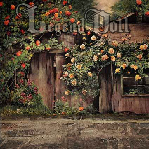 BJD Background/Scenery/Backdrop Rose Garden Photography Settings Ball-jointed Doll