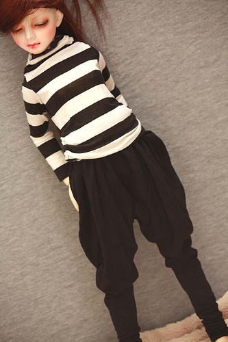 BJD Clothes striped blouse and pants for SD/MSD Ball-jointed Doll